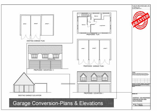 Planning Drawings for Garage Conversion Detail