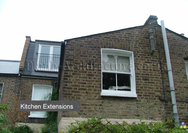 Planning drawings for kitchen extensions detail for Extension architecte
